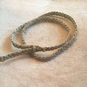 H&M. Off-white braided belt.